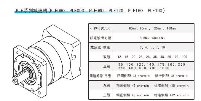 PLF系列精密行星减速机